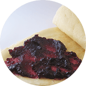 blueberry jam crepes